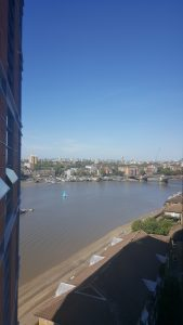 River Thames View from Apartment in Battersea