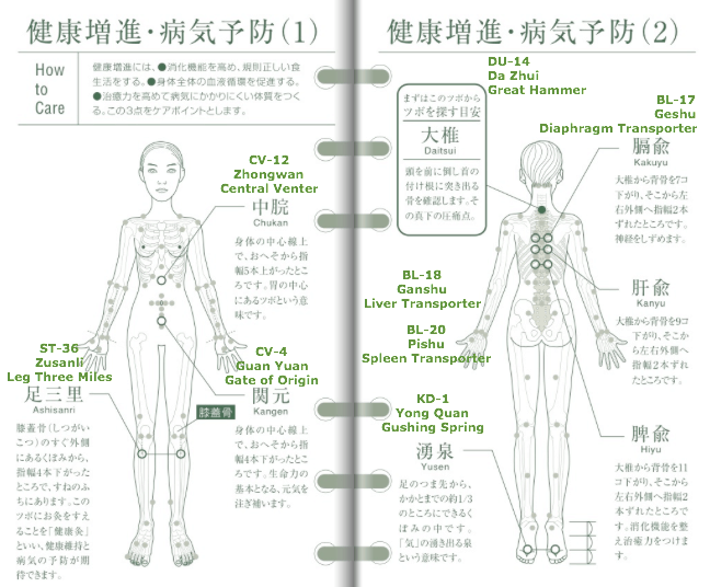 Acupuncture Points - Improve General Health Prevent Illness